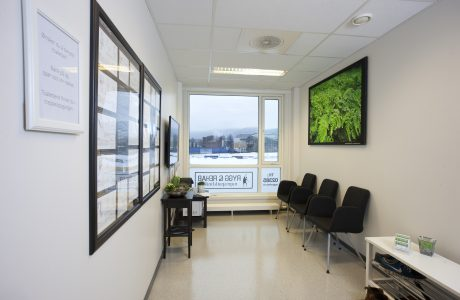 Rygg og Rehab Drammen Venterom